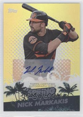 2013 Topps Spring Fever Card Shop Promotion Autographs [Autographed] #SFA-NM - Nick Markakis /345
