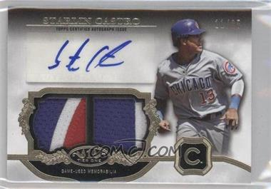 2013 Topps Tier One - Autographed Relics - Dual #TOADR-SC - Starlin Castro /25