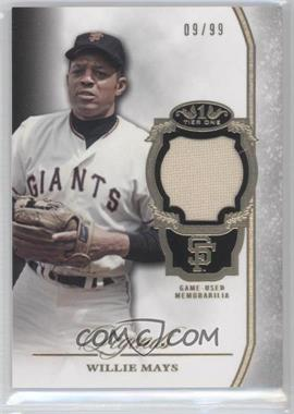 2013 Topps Tier One - Legends Relics #TORL-WM - Willie Mays /99