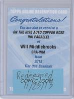 Will Middlebrooks /25 [REDEMPTION Being Redeemed]