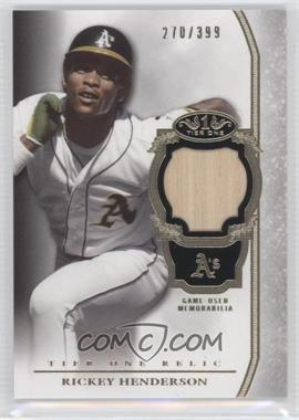 2013 Topps Tier One - Relics #TOR-RH - Rickey Henderson /399