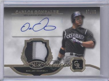 2013 Topps Tier One Autographed Relics [Autographed] #TOAR-CG - Carlos Gonzalez /99