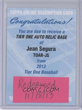 2013 Topps Tier One Autographed Relics [Autographed] #TOAR-JS - Jean Segura /99 [REDEMPTION Being Redeemed]