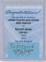 Garrett Jones /25 [REDEMPTIONBeingRedeemed]