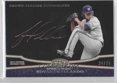 2013 Topps Tier One Crowd Pleaser Autographs Copper Rose Ink [Autographed] #CPA-YG - Yovani Gallardo /25