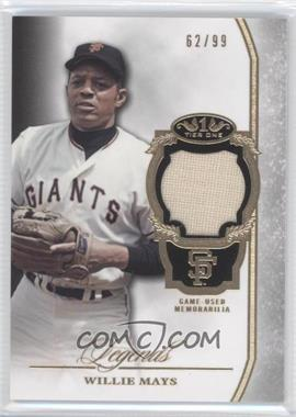2013 Topps Tier One Legends Relics #TORL-WM - Willie Mays /99
