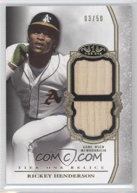 2013 Topps Tier One Relics Double #TODR-RH - Rickey Henderson /50