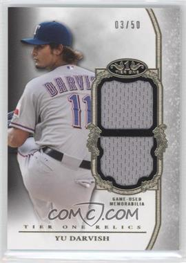 2013 Topps Tier One Relics Double #TODR-YD - Yu Darvish /50