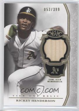 2013 Topps Tier One Relics #TOR-RH - Rickey Henderson /399