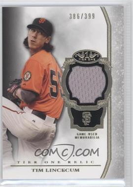 2013 Topps Tier One Relics #TOR-TL - Tim Lincecum /399