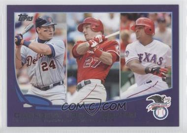 2013 Topps Toys R Us Purple #294 - 2012 AL Batting Average Leaders (Miguel Cabrera, Mike Trout, Adrian Beltre)