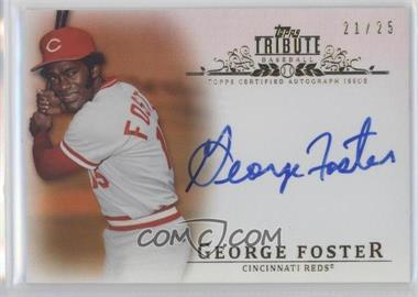 2013 Topps Tribute - Certified Autograph Issue - Orange [Autographed] #TA-GF - George Foster /25