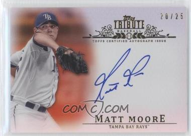 2013 Topps Tribute - Certified Autograph Issue - Orange [Autographed] #TA-MM3 - Matt Moore /25