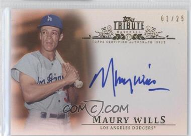 2013 Topps Tribute - Certified Autograph Issue - Orange [Autographed] #TA-MW - Maury Wills /25