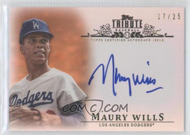 2013 Topps Tribute - Certified Autograph Issue - Orange [Autographed] #TA-MW2 - Maury Wills /25