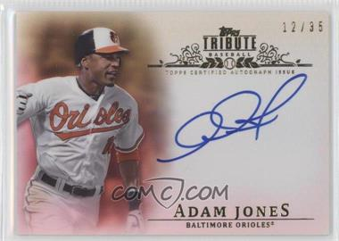 2013 Topps Tribute - Certified Autograph Issue - Sepia [Autographed] #TA-AJ3 - Adam Jones /35