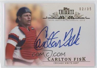 2013 Topps Tribute - Certified Autograph Issue - Sepia [Autographed] #TA-CF - Carlton Fisk /35