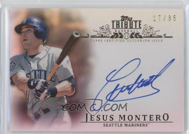 2013 Topps Tribute - Certified Autograph Issue - Sepia [Autographed] #TA-JMO - Jesus Montero /35
