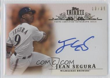 2013 Topps Tribute - Certified Autograph Issue - Sepia [Autographed] #TA-JS2 - Jean Segura /35