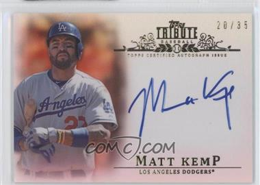 2013 Topps Tribute - Certified Autograph Issue - Sepia [Autographed] #TA-MK - Matt Kemp /35