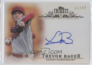 2013 Topps Tribute - Certified Autograph Issue - Sepia [Autographed] #TA-TB - Trevor Bauer /35