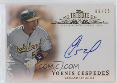 2013 Topps Tribute - Certified Autograph Issue - Sepia [Autographed] #TA-YC - Yoenis Cespedes /35