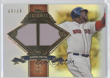2013 Topps Tribute - Famous Four-Baggers Relics - Gold #FB-DO - David Ortiz /15