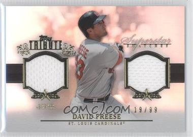 2013 Topps Tribute - Superstar Swatches Relics #SS-DF - David Freese /99