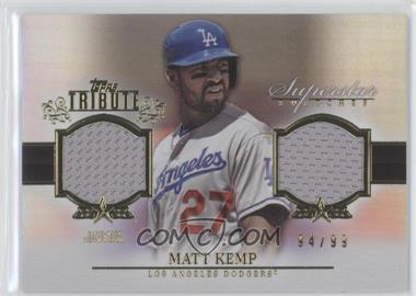 2013 Topps Tribute - Superstar Swatches Relics #SS-MK - Matt Kemp /99