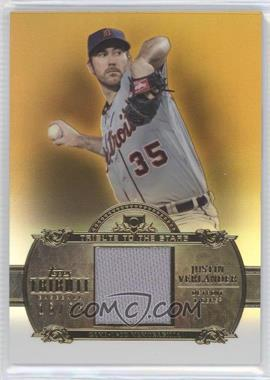 2013 Topps Tribute - Tribute to the Stars Relic - Gold #TTSR-JVE - Justin Verlander /25