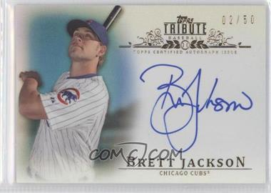 2013 Topps Tribute Certified Autograph Issue Blue [Autographed] #TA-BJ2 - Brett Jackson /50