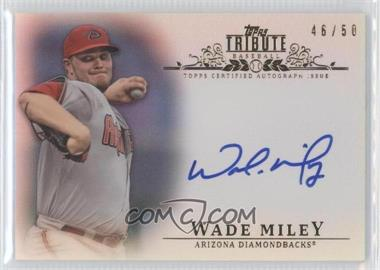 2013 Topps Tribute Certified Autograph Issue Blue [Autographed] #TA-WMI - Wade Miley /50