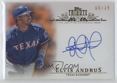 2013 Topps Tribute Certified Autograph Issue Orange [Autographed] #TA-EA - Elvis Andrus /25