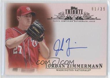 2013 Topps Tribute Certified Autograph Issue Orange [Autographed] #TA-JZ - Jordan Zimmermann /25