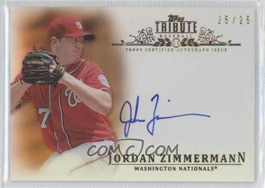 2013 Topps Tribute Certified Autograph Issue Orange [Autographed] #TA-JZ2 - Jordan Zimmermann /25