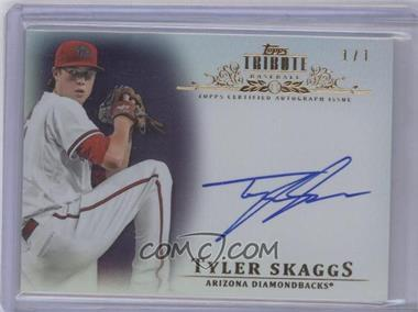 2013 Topps Tribute Certified Autograph Issue Purple #TA-TSK - Tyler Skaggs /1
