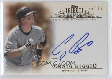 2013 Topps Tribute Certified Autograph Issue Sepia [Autographed] #TA-CB - Craig Biggio /35