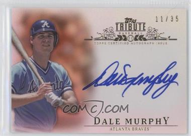 2013 Topps Tribute Certified Autograph Issue Sepia [Autographed] #TA-DM - Dale Murphy /35