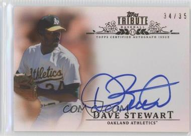 2013 Topps Tribute Certified Autograph Issue Sepia [Autographed] #TA-DS - Dave Stewart /35