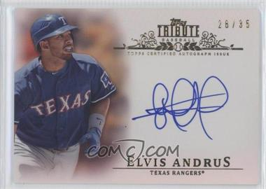 2013 Topps Tribute Certified Autograph Issue Sepia [Autographed] #TA-EA - Elvis Andrus /35