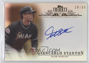 2013 Topps Tribute Certified Autograph Issue Sepia [Autographed] #TA-GS - Giancarlo Stanton /35