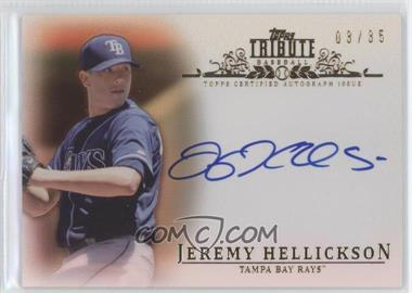 2013 Topps Tribute Certified Autograph Issue Sepia [Autographed] #TA-JH - Jeremy Hellickson /35