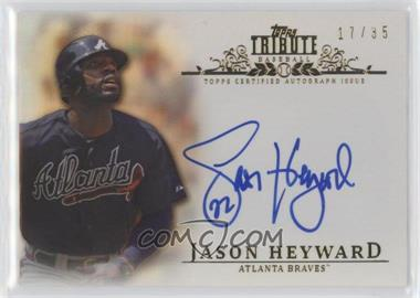 2013 Topps Tribute Certified Autograph Issue Sepia [Autographed] #TA-JHE - Jason Heyward /35