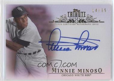 2013 Topps Tribute Certified Autograph Issue Sepia [Autographed] #TA-MMI - Minnie Minoso /35