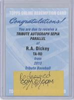R.A. Dickey /35 [REDEMPTION Being Redeemed]