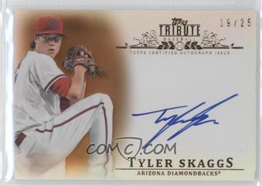 2013 Topps Tribute Certified Autograph Issue Sepia [Autographed] #TA-TSK - Tyler Skaggs /35