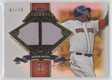 2013 Topps Tribute Famous Four-Baggers Relics Gold #FB-DO - David Ortiz /15