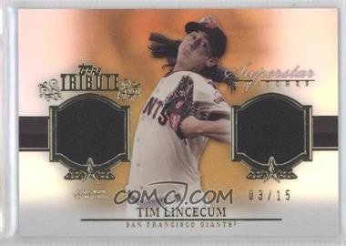 2013 Topps Tribute Superstar Swatches Relics Gold #SS-TL - Tim Lincecum /15