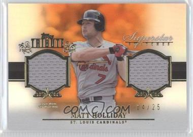 2013 Topps Tribute Superstar Swatches Relics Orange #SS-MH - Matt Holliday /25