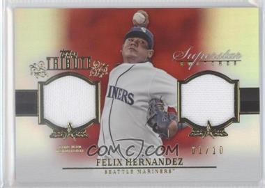 2013 Topps Tribute Superstar Swatches Relics Red #SS-FH - Felix Hernandez /10